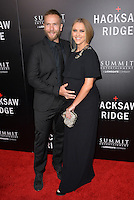 LOS ANGELES, CA. October 24, 2016: Actress Teresa Palmer &amp; husband actor Mark Webber at the Los Angeles premiere of &quot;Hacksaw Ridge&quot; at The Academy's Samuel Goldwyn Theatre, Beverly Hills.<br /> Picture: Paul Smith/Featureflash/SilverHub 0208 004 5359/ 07711 972644 Editors@silverhubmedia.com