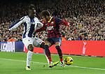 Spain.Barcelona. 01.11.2013<br /> Partido de liga BBVA entre Fc Barcelona- RCD Espanyol<br /> Neymar vs Thievy