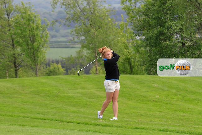 Sophie Keech (ENG) on the 1st fairway during Round 2 of the Irish Women's Open Strokeplay Championship at Dun Laoghaire Golf Club on Saturday 23rd May 2015.<br /> Picture:  Thos Caffrey / www.golffile.ie