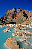 Mineral-laden waters of the Little Colorado River, at Confluence with the Colorado River in Grand Canyon National Park, Arizona, AGPix_0040.