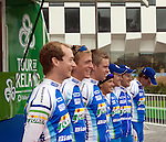 Joker Bianchi Team from Norway at the Tour of Ireland cycle race start, Grand Canal Square, Dublin 2.