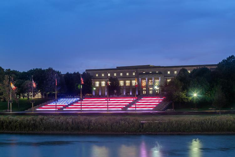 Genoa Park Amphitheater Stairs Lighting Design | Illumination Arts & Lumenpulse