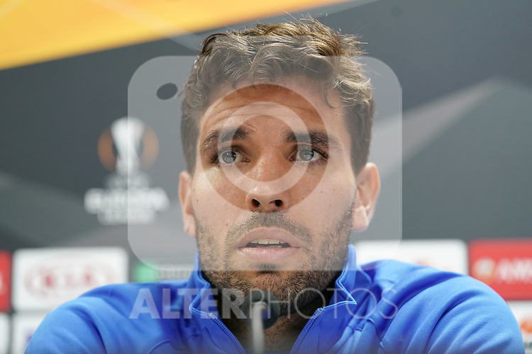 Getafe CF's Leandro Cabrera in press conference after training session. October 23,2019.(ALTERPHOTOS/Acero)