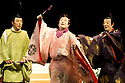 Twelfth Night after William Shakespeare,A Shochiku Grand Kabuki Production directed by Yukio Ninagawa.With Ichikawa Danzo IX as Fabian, Nakamura Kanjaku V as Sir Andrew Aguecheek,Ichikawa Sadanji IV as Sir Toby Belch. Opens at The Barbican Theatre on 24/3/09 CREDIT Geraint Lewis