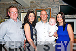 Baby JJ Ahern with his parents Joanne & Timmy Ahern, Movane and god parents Sheamus Ahern & Emma Murphy who was christened in Knockanure Church by Fr. Lucid on Saturday last and afterwards at Behan's Horseshoe Restaurant, Listowel.