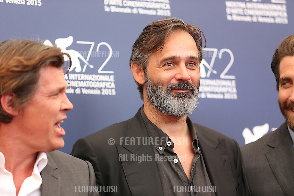 Balthasar Kormakur &amp; Josh Brolin at the photocall for Everest at the 2015 Venice Film Festival.<br /> September 02, 2015  Venice, Italy<br /> Picture: Kristina Afanasyeva / Featureflash