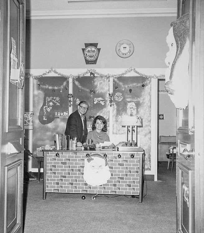 Decorated Congressman's office during Christmas contest. (Photo by CQ Roll Call via Getty Images)