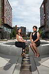 "DACA recipients Graciela Nuñez and Monserrat Padilla, photographed at El Centro de La Raza in Seattle. ""We have no other option,"" Nuñez said. ""We're fighting because we need to be represented. We can't let the president or the federal government define us or our movement."" Photo by Daniel Berman"
