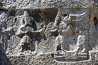 Picture of Yazilikaya [ i.e written riock ], Hattusa  The largest known Hittite sanctuary. 13th century BC made in the reign of Tudhaliya 1V .2