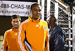 31 March 2007: Houston's Ricardo Clark, followed by Zach Wells, take the field. Major League Soccer's Houston Dynamo defeated the New York Red Bulls 2-1 in a preseason game at Blackbaud Stadium on Daniel Island in Charleston, SC, as part of the Carolina Challenge Cup.