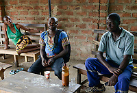 Zambia, Sinazese, village Nkandabbwe, chinese Collum coal mine, miner in village bar / SAMBIA, chinesische Collum Kohlemine, Bergarbeiter in Bana Bangu Bar