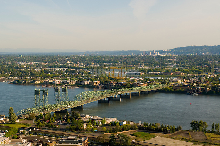 Aerial View of the I-5 Bridge, Vancouver, Washington