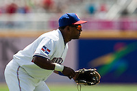 7 March 2009: #10 Miguel Tejada of the Dominican Republic is seen at third base during the 2009 World Baseball Classic Pool D match at Hiram Bithorn Stadium in San Juan, Puerto Rico. Netherlands pulled off a huge upset in their World Baseball Classic opener with a 3-2 victory over Dominican Republic.