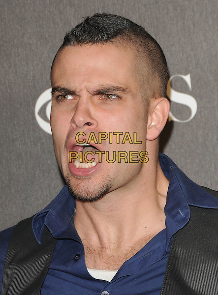 MARK SALLING.Arrivals at the 2010 People's Choice Awards held at the Nokia Theater L.A. Live in Los Angeles, California, USA. .January 6th, 2010.headshot portrait blue grey gray mouth open funny face goatee facial hair .CAP/RKE/DVS.©DVS/RockinExposures/Capital Pictures.