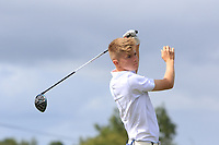 Josh Black (Lisburn) on the 14th tee during the Final round in the Connacht U16 Boys Open 2018 at the Gort Golf Club, Gort, Galway, Ireland on Wednesday 8th August 2018.<br /> Picture: Thos Caffrey / Golffile<br /> <br /> All photo usage must carry mandatory copyright credit (&copy; Golffile   Thos Caffrey)