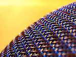 A macro shot of wire