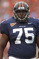 24 September 2005: Virginia tackle Eugene Monroe (75)..Virginia Cavaliers defeated the Duke Blue Devils 38-7 at Scott Stadium in Charlottesville, VA.