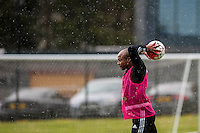 Wednesday  27 April 2016<br /> <br /> Pictured: Andre Ayew of Swansea City  in action during training<br /> Re: Swansea City Training Session at the Fairwood Ground, Swansea, Wales, UK