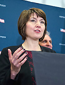 United States House Republican Conference Chair Cathy McMorris Rogers (Republican of Washington) speaks to reporters after meeting with US Vice President-elect Mike Pence House on GOP plans to repel the Affordable Care Act (ACA) in the US Capitol in Washington, DC on Wednesday, January 4, 2017.<br /> Credit: Ron Sachs / CNP