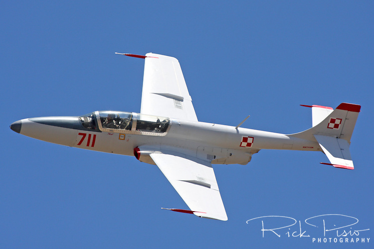 Polish designed and built TS-11 Iskra during a practice session at the 2010 Pylon Racing School at Stead Field in Nevada. The Iskra was designed as a jet trainer and used by the air forces of Poland and India.