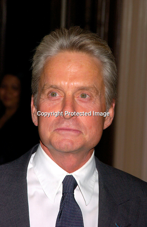 Michael Douglas ..at the United Nations Association of the USA Global Leadership Awards Dinner on September 30, 2004 at the ..Waldorf Astoria. Oprah Winfrey was honored with the ..International Philanthropist, Global Media Leader. ..Photo by Robin Platzer, Twin Images