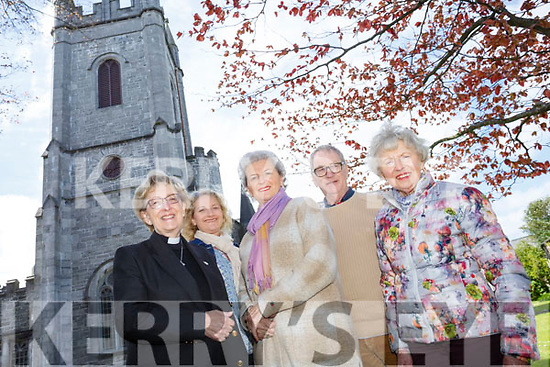 Church of St. John the Evangelist, Ashe Street launch their The Kerry Choral Union Spring Into Summer concert on Sunday 30th April at 7.30pm Pictured Organising Committee  l-r Rev Phyllis Jones, Shirley McEvoy, Mona Butler, Keith Jones and Mary Kinch