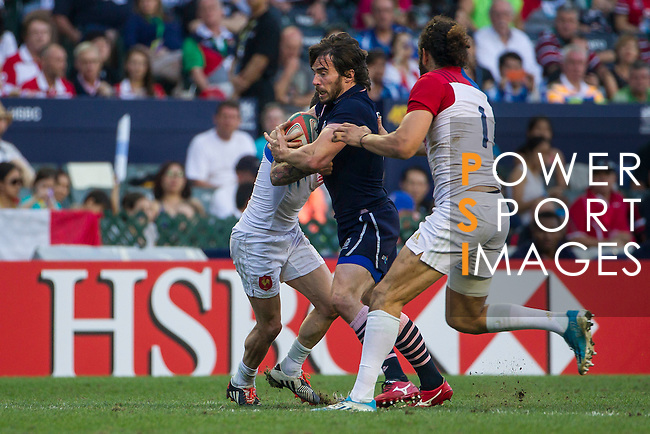 France vs Scotland during the HSBC Sevens Wold Series Bowl Final match as part of the Cathay Pacific / HSBC Hong Kong Sevens at the Hong Kong Stadium on 29 March 2015 in Hong Kong, China. Photo by Manuel Bruque / Power Sport Images
