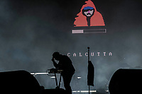 Latina, July 22, 2018. Edoardo D'Erme, better known as Calcutta during his concert at the stadium of Latina, the city where he was born.