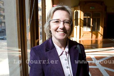 Genève, le 21.02.2009.Mme Laurence Fehlmann Rielle. .© Le Courrier / J.-P. Di Silvestro