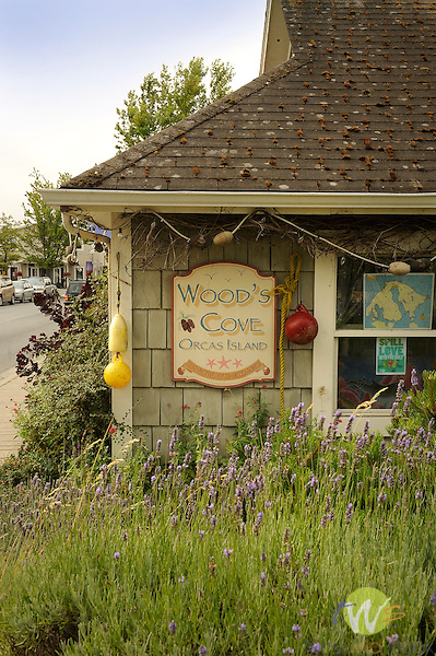 Town of Eastsound, Orcas Island. Wood's Cove gift shop.