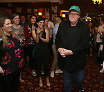Michael Moore And Michael Mayer during the Michael Moore And Michael Mayer portrait unveilings as the join the Wall of Fame at Sardi's on September 21, 2017 at Sardi's in New York City.