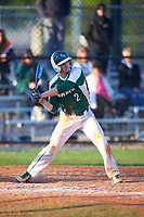 Farmingdale State Rams Michael Lynch (2) at bat during the second game of a doubleheader against the FDU-Florham Devils on March 15, 2017 at Lake Myrtle Park in Auburndale, Florida.  FDU-Florham defeated Farmingdale 8-4.  (Mike Janes/Four Seam Images)