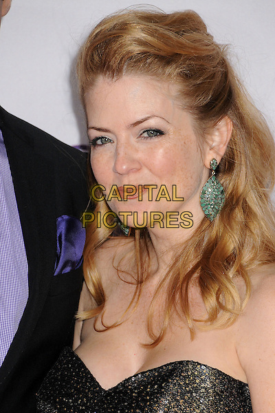 Juliana Dever.People's Choice Awards 2013 - Arrivals held at Nokia Theatre L.A. Live, Los Angeles, California, USA..January 9th, 2013.headshot portrait black strapless green dangling earrings .CAP/ADM/BP.©Byron Purvis/AdMedia/Capital Pictures.