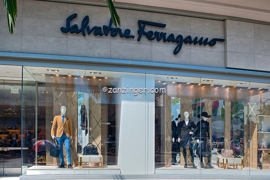 Salvatore Ferragamo, Apparel, Rodeo Drive, Window Display, Beverly Hills, CA