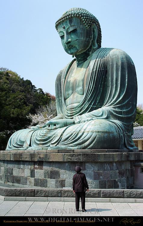Kamakura Daibutsu and Visitor, Great Buddha of Kamakura, Amida Nyorai, Kotoku-in, Kamakura, Japan