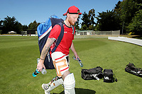 Controversial cricketer Ben Stokes who is currently suspended from the England cricket team following a street fight in September after a night out celebrating England's win over the West Indies in a limited-overs international, trains with the Canterbury team at MainPower Oval, Rangiora, New Zealand on Saturday, 02 December 2017. Photo: Martin Hunter / lintottphoto.co.nz