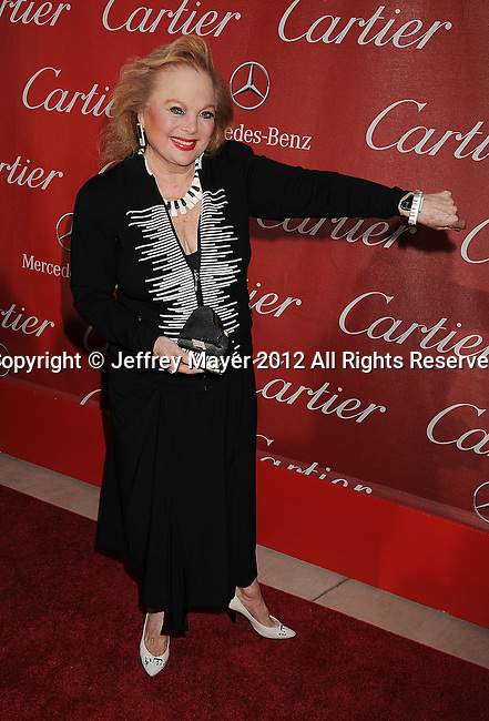 PALM SPRINGS, CA - JANUARY 07: Carol Connors arrives at the 2012 Palm Springs Film Festival Awards Gala at the Palm Springs Convention Center on January 7, 2012 in Palm Springs, California.