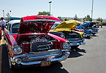 Cars on display during the Hot August Nights Pre-Kickoff show and shine held at the Bonanza Casino in Reno, Nevada on Sunday, August 4, 2013.