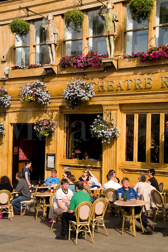 Locals at Cafe in Edinburgh, Antigua Street,  Theatre Royal Bar, Scotland