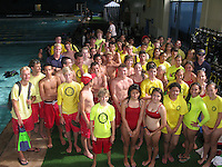 The Plunge Swimming Pool, Mission Beach, San Diego CA, USA.  August 6 2013:  San Diego Junior Lifeguards get a introduction to SCUBA.  More than 100 San Diego Junior Lifeguards particiapted in a PADI Discover Scuba Diving Program hosted by the San Diego Junior Lifeguard Foundation.  Over the course of the 2013 summer season more than 220 Junior Guards were introduced to SCUBA during four sessions at the pool.