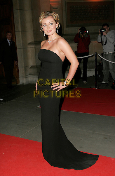 KATHERINE JENKINS .UK Launch of the Montblanc Fine Diamond Jewellery Collection, Victoria & Albert Museum, London, England..April 24th, 2007.V&A mont blanc full length black strapless dress hand on hip.CAP/AH.©Adam Houghton/Capital Pictures