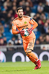 Borussia Dortmund Goalkeeper Roman Burki in action during the Europe Champions League 2017-18 match between Real Madrid and Borussia Dortmund at Santiago Bernabeu Stadium on 06 December 2017 in Madrid Spain. Photo by Diego Gonzalez / Power Sport Images