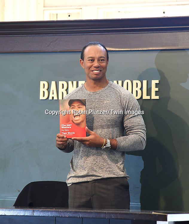 Tiger Woods attends his book signing for his new book<br /> &quot;The 1997 Masters: My Story&quot; on March 20, 2017 at Union Square Barnes &amp; Noble in New York City, New York, USA.<br /> <br /> photo by Robin Platzer/Twin Images<br />  <br /> phone number 212-935-0770