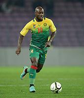 FUSSBALL   INTERNATIONAL   Testspiel    Albanien - Kamerun       14.11.2012 Achille Emana (Kamerun) am Ball