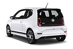 Car pictures of rear three quarter view of a 2018 Volkswagen UP GTi 3 Door Hatchback angular rear