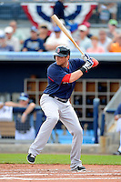 Boston Red Sox outfielder Ryan Sweeney #25 during a Grapefruit League Spring Training game against the Tampa Bay Rays at Charlotte County Sports Park on February 25, 2013 in Port Charlotte, Florida.  Tampa Bay defeated Boston 6-3.  (Mike Janes/Four Seam Images)