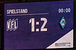 12.10.2018, Stadion an der Bremen Bruecke, Osnabrueck, GER, FSP, 1.FBL, VfL Osnabrueck vs Werder Bremen<br /> <br /> DFL REGULATIONS PROHIBIT ANY USE OF PHOTOGRAPHS AS IMAGE SEQUENCES AND/OR QUASI-VIDEO.<br /> <br /> im Bild / picture shows<br /> Anzeigetafel / Endstand, Feature, <br /> <br /> Foto © nordphoto / Ewert