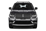 Car photography straight front view of a 2019 Lincoln Navigator L Reserve 5 Door Wagon