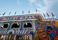The Mardis Gras funhouse during the SEMO District Fair on Wednesday, Sept. 15, 2010 in Cape Girardeau, Missouri.