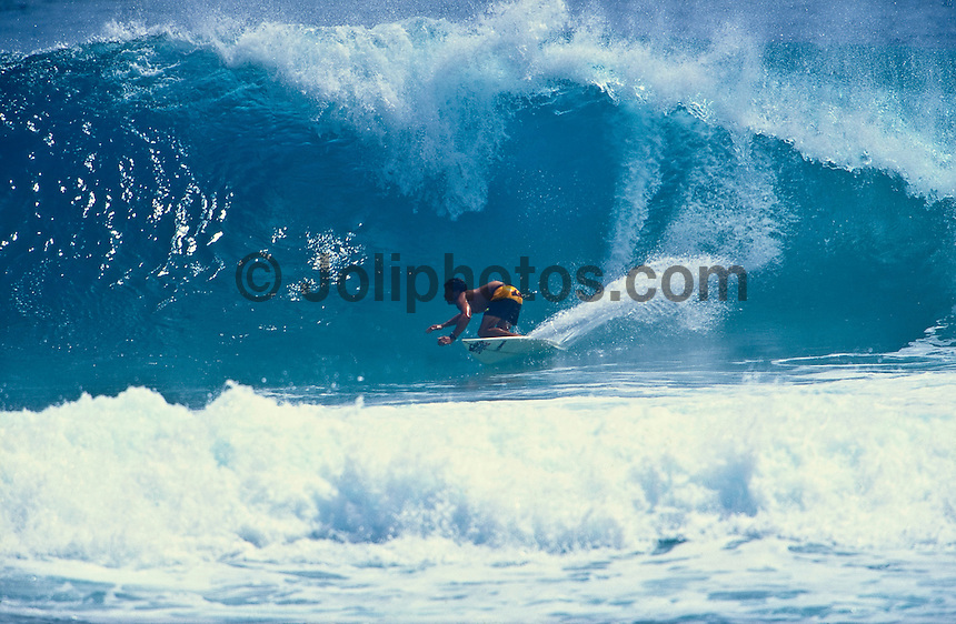 Kelly Slater (USA) surfing Kirra during the swell generated from Cyclone Betsy. Betsy is considered one of the best cyclone swells in the past 20 years. Kirra Point, Coolangatta, Queensland, Australia. Photo: joliphotos.com